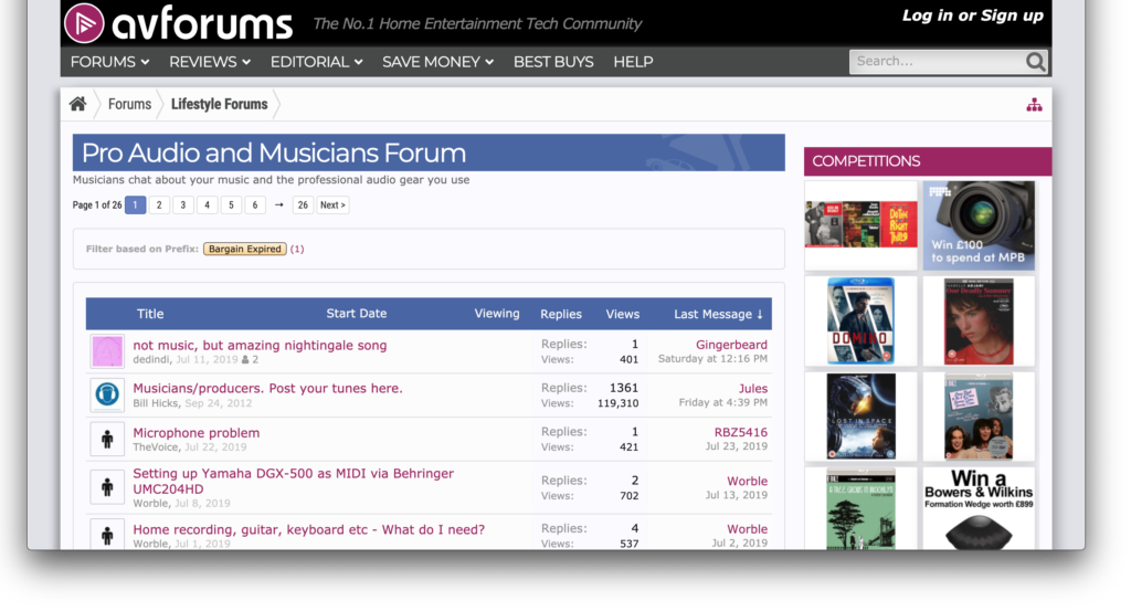 music forums for help